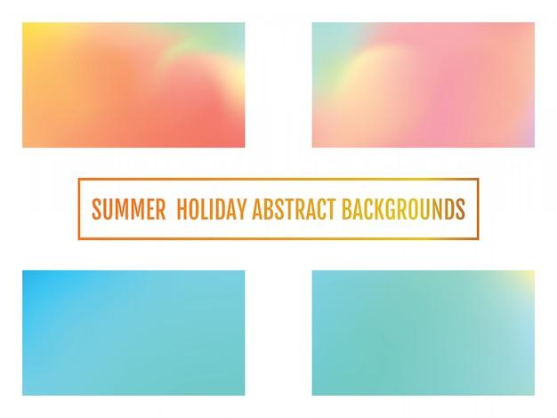 Conjunto de fondo abstracto del gradiente de color para su diseño.
