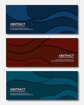 Conjunto de fondo abstracto papercut