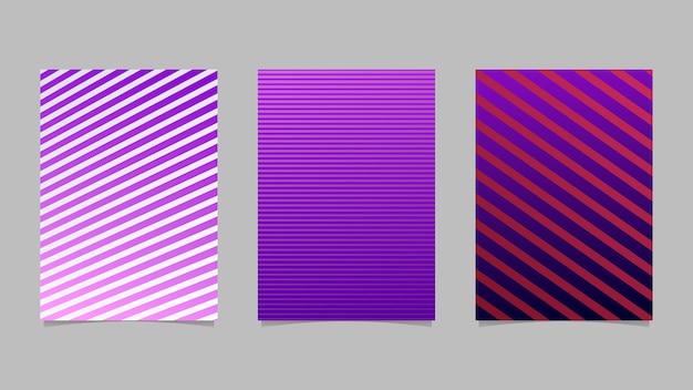Conjunto de fondo abstracto raya gradiente página