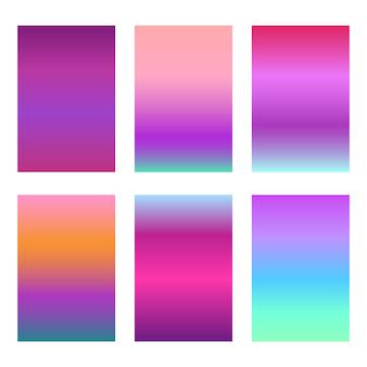Conjunto de fondo degradados violeta moderno