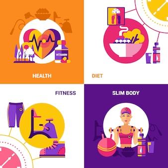 Conjunto de fondo de fitness