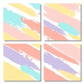 Conjunto de fondo de forma abstracta color pastel conjunto de cubiertas abstractas modernas