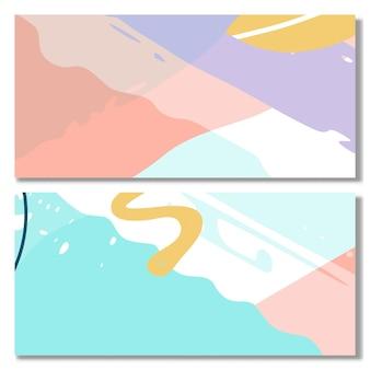Conjunto de fondo de forma abstracta memphis color pastel conjunto de fondo abstracto moderno