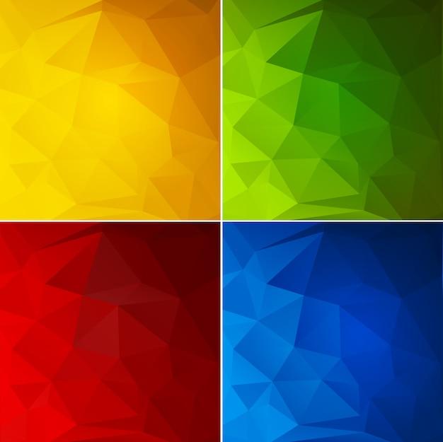 Conjunto de fondo geométrico de color abstracto