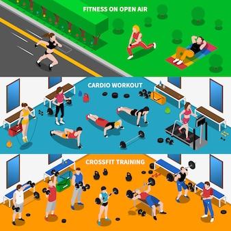 Conjunto de fondo de gimnasio