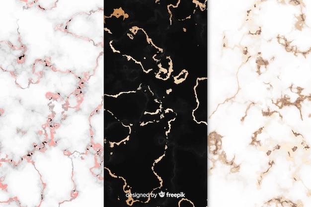 Conjunto de fondo de mármol
