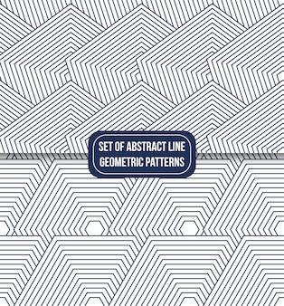 Conjunto de fondo de patrón de línea geométrica inconsútil
