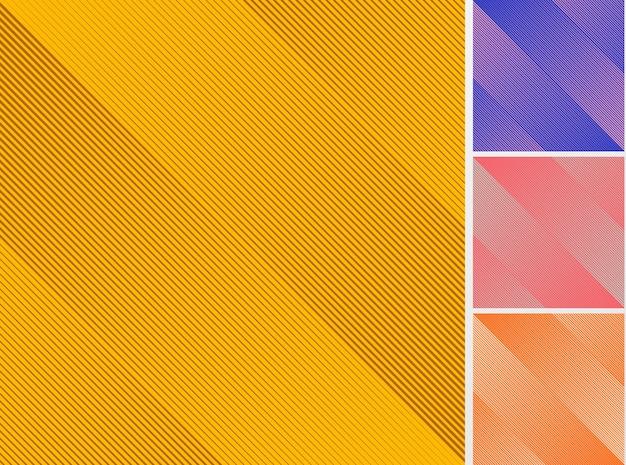 Conjunto de fondo de patrón de líneas diagonales