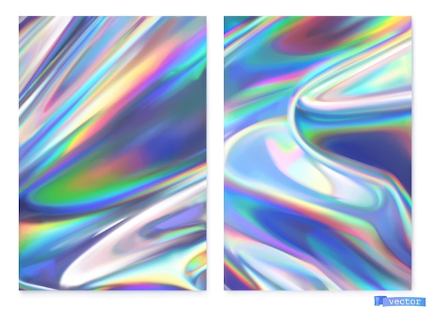 Conjunto de fondo de película holográfica