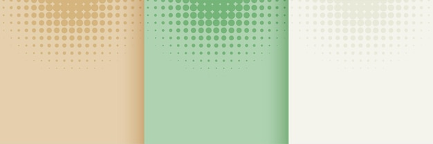 Conjunto de fondo de semitono de color pastel suave