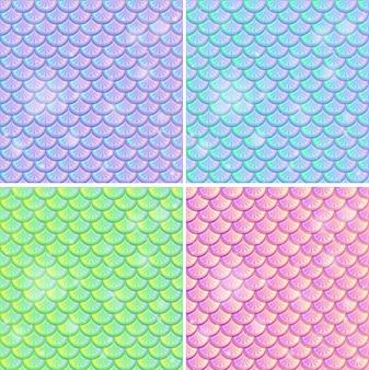 Conjunto de fondo transparente de escala de pescado