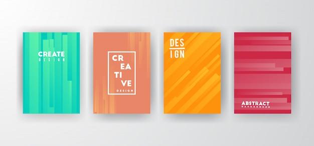Conjunto de fondos abstractos de colores