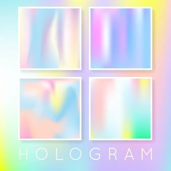 Conjunto de fondos abstractos holográficos.