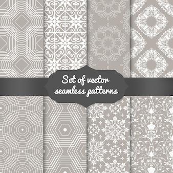 Conjunto de fondos abstractos patrón geométrico. elegantes fondos para tarjetas e invitaciones.