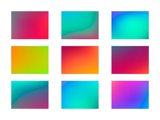 Conjunto de fondos de colores abstractos.