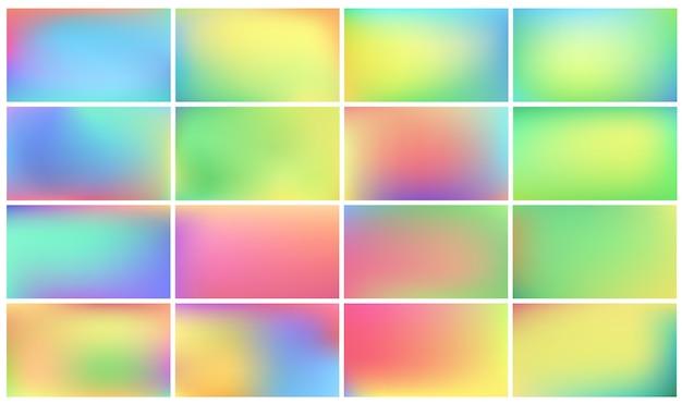 Conjunto de fondos de colores.