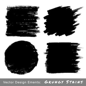 Conjunto de fondos dibujados a mano de grunge. ilustración