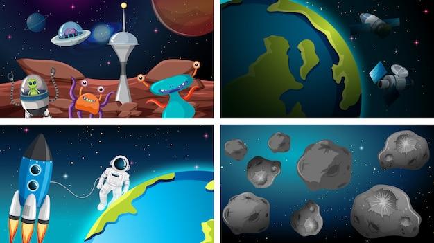 Conjunto de fondos espaciales