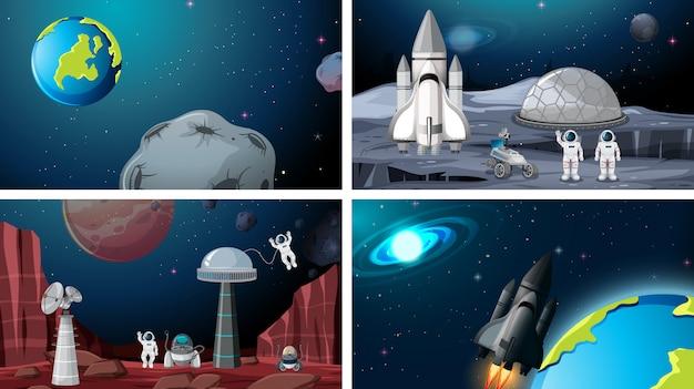 Conjunto de fondos de espacio