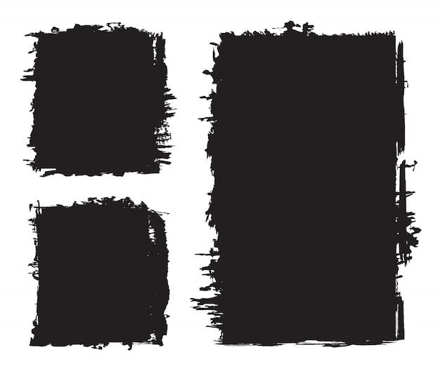 Conjunto de fondos grunge negro