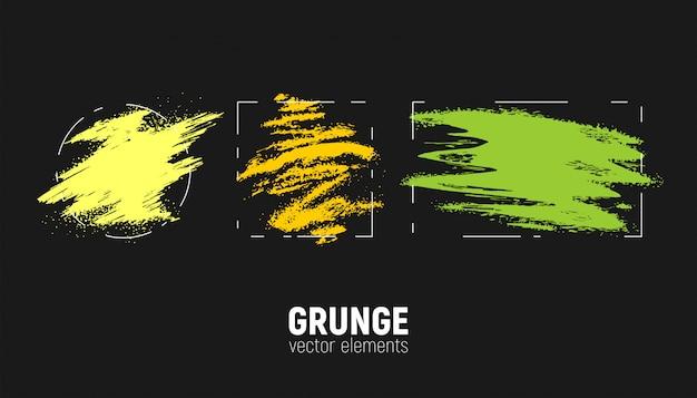 Conjunto de fondos grunge