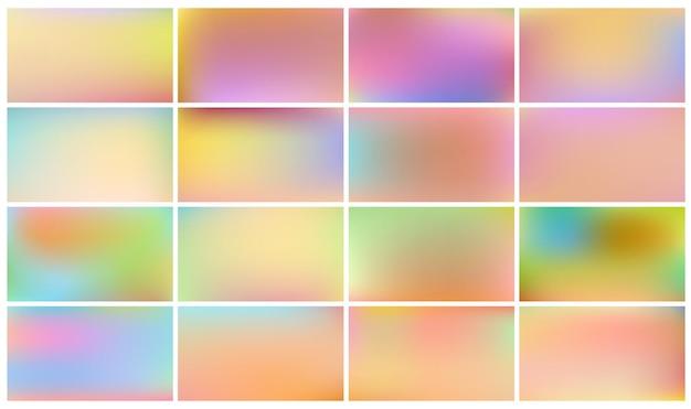 Conjunto de fondos de niños de color claro.