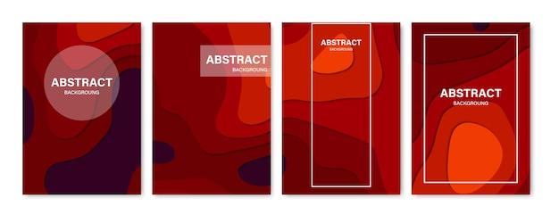 Conjunto de fondos de portada abstracta.