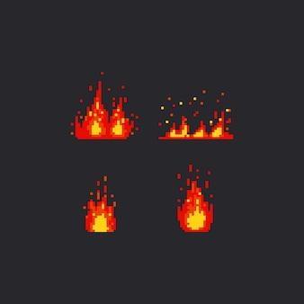 Conjunto de fuego pixel