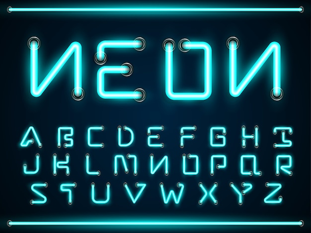 Images of Glowing Neon Font Gif Generator - #rock-cafe