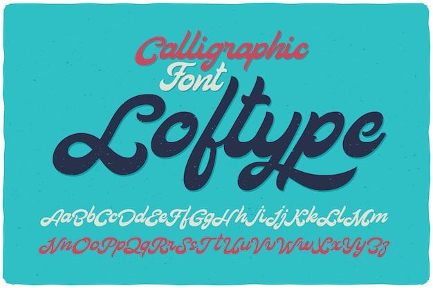 Conjunto de fuentes caligráficas en negrita