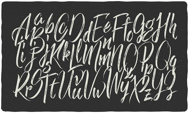 Conjunto de fuentes caligráficas con textura