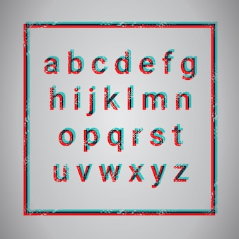 Conjunto de fuentes de texto de la colección de letras del alfabeto grunge