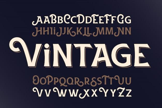 Conjunto de fuentes vintage