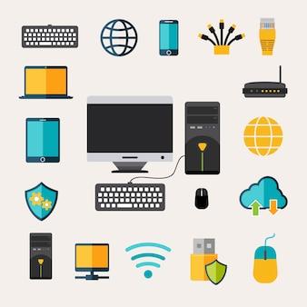 Conjunto de gadgets de red