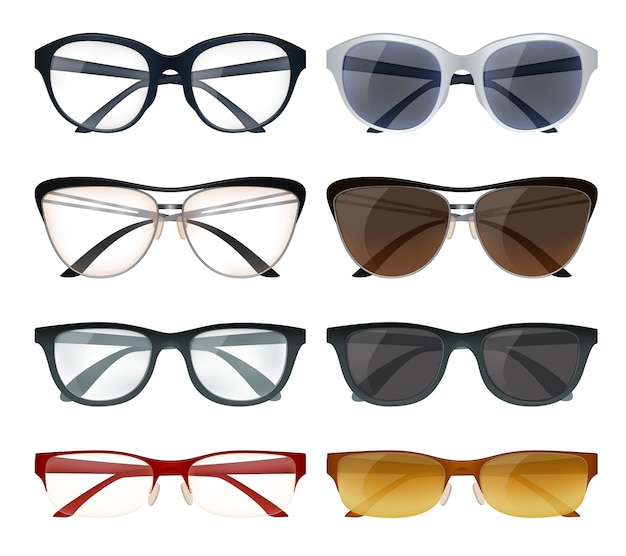 Conjunto de gafas modernas