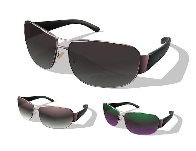 Conjunto de gafas de sol.