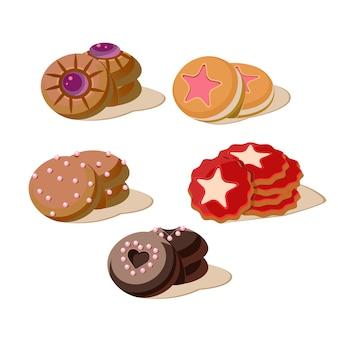 Conjunto de galletas sabrosas