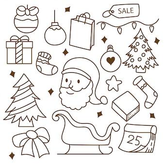 Conjunto de garabatos de navidad