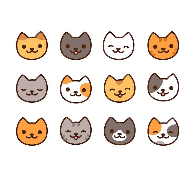Conjunto de gatos lindos