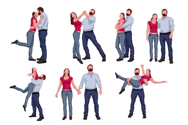 Conjunto de gente bailando