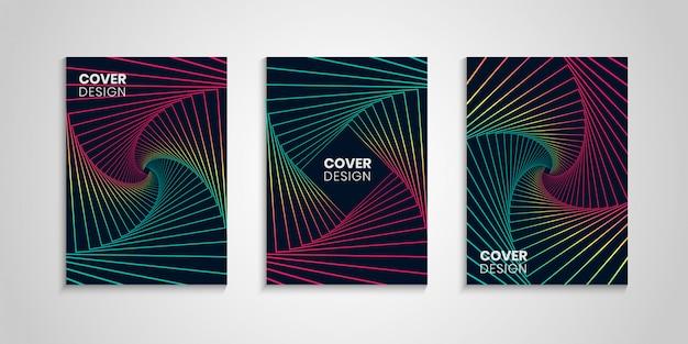 Conjunto geométrico de cubiertas coloridas