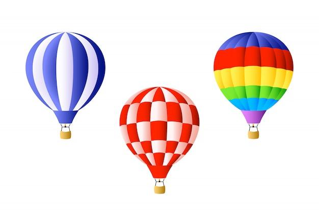 Conjunto de globos de aire caliente