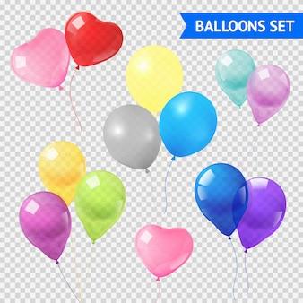 Conjunto de globos de aire