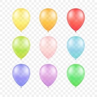 Conjunto de globos de colores multicolores