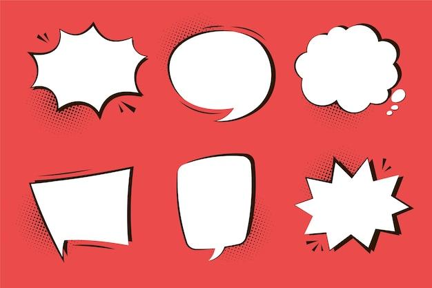 Conjunto de globos de diálogo estilo papel