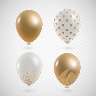 Conjunto de globos de fiesta elegante