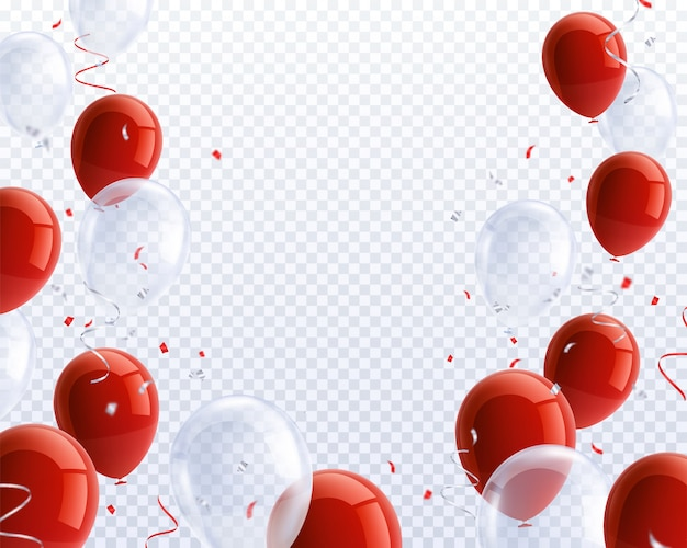 Conjunto de globos de fiesta realista