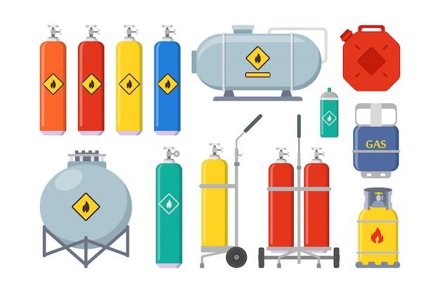 Conjunto de globos de gas