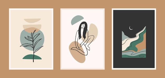 Conjunto de grabados de arte contemporáneo