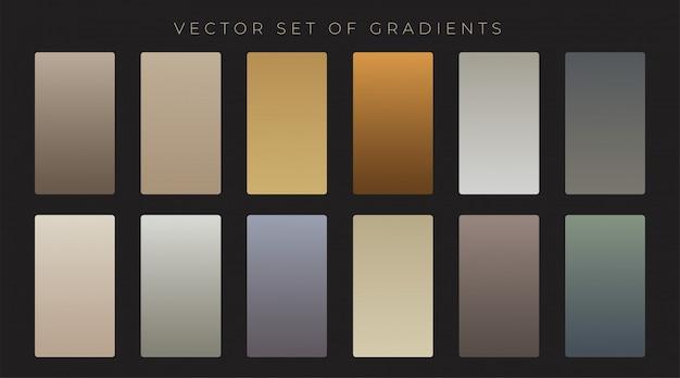 Conjunto de gradiente de estilo antiguo vintage